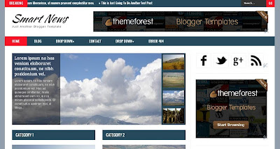 Smart News Responsive Blogger Template