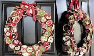 Decoración de Navidad con Tela Reciclada