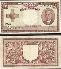 Maltese Pound Note - GVI