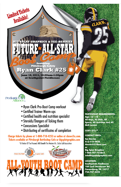 Ryan Clark, Pittsburgh Steelers, All-Star Boot Camp, Pittsburgh Sports