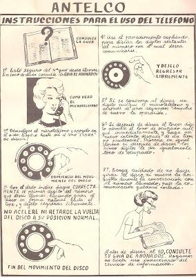 [Imagen] ANTELCO - Instrucciones para el uso del teléfono