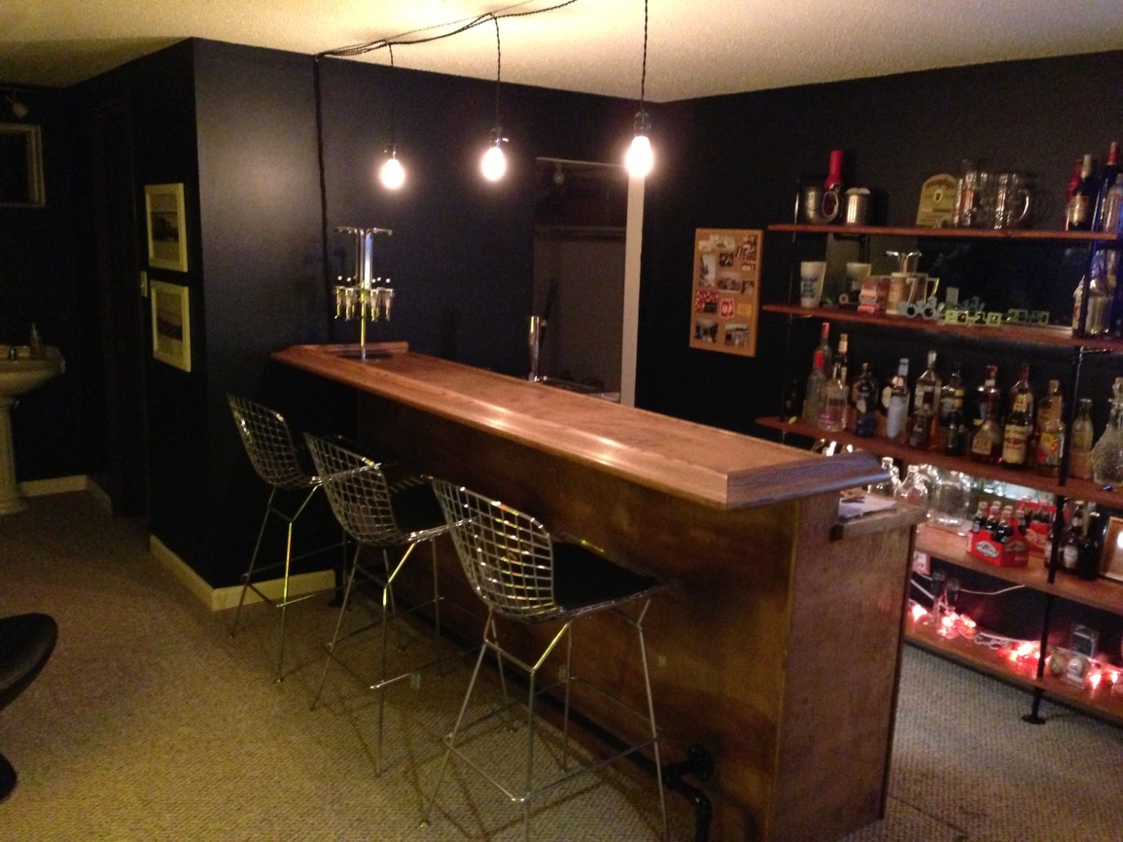 Back to the trees basement bar Diy home bar design ideas