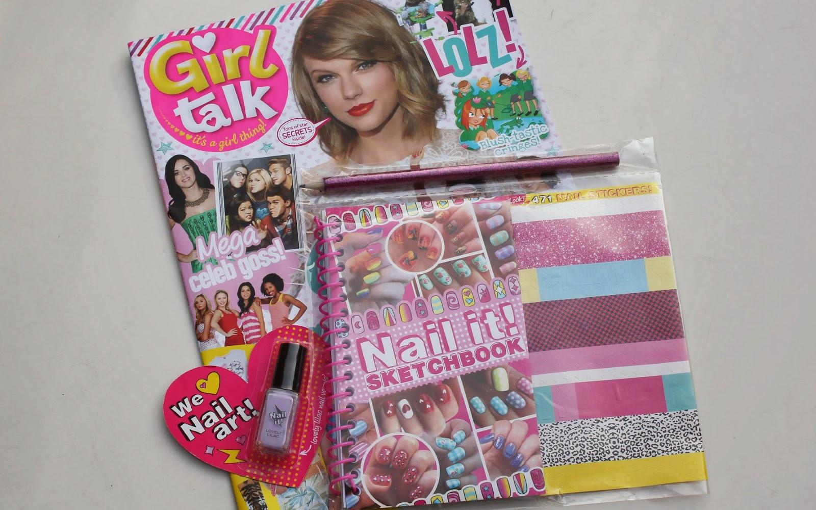 Girl Talk Magazine with Nail Art Kit