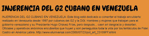 Ingerencia del G2 cubano en Venezuela