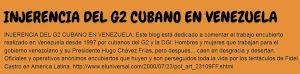Ingerencia del G2 cubano en Venezuela