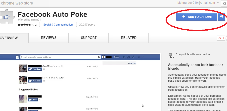 Facebook auto poker firefox crap table image