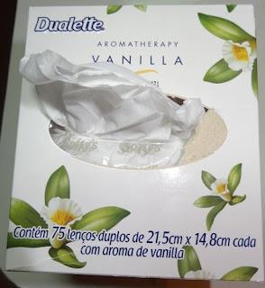 Lenços de papel aromatizados Softy's.