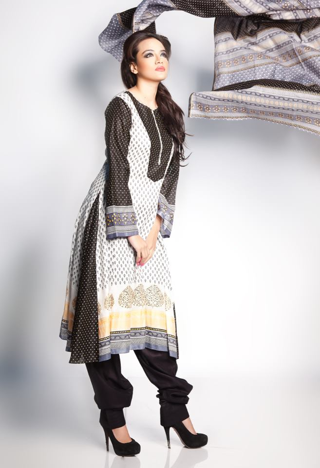 Pakistani lawn prints latest designs for paty wear - Dress Of The DAy 9th May 2012
