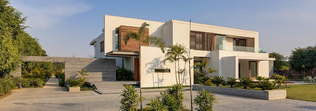 Front facade of modern home