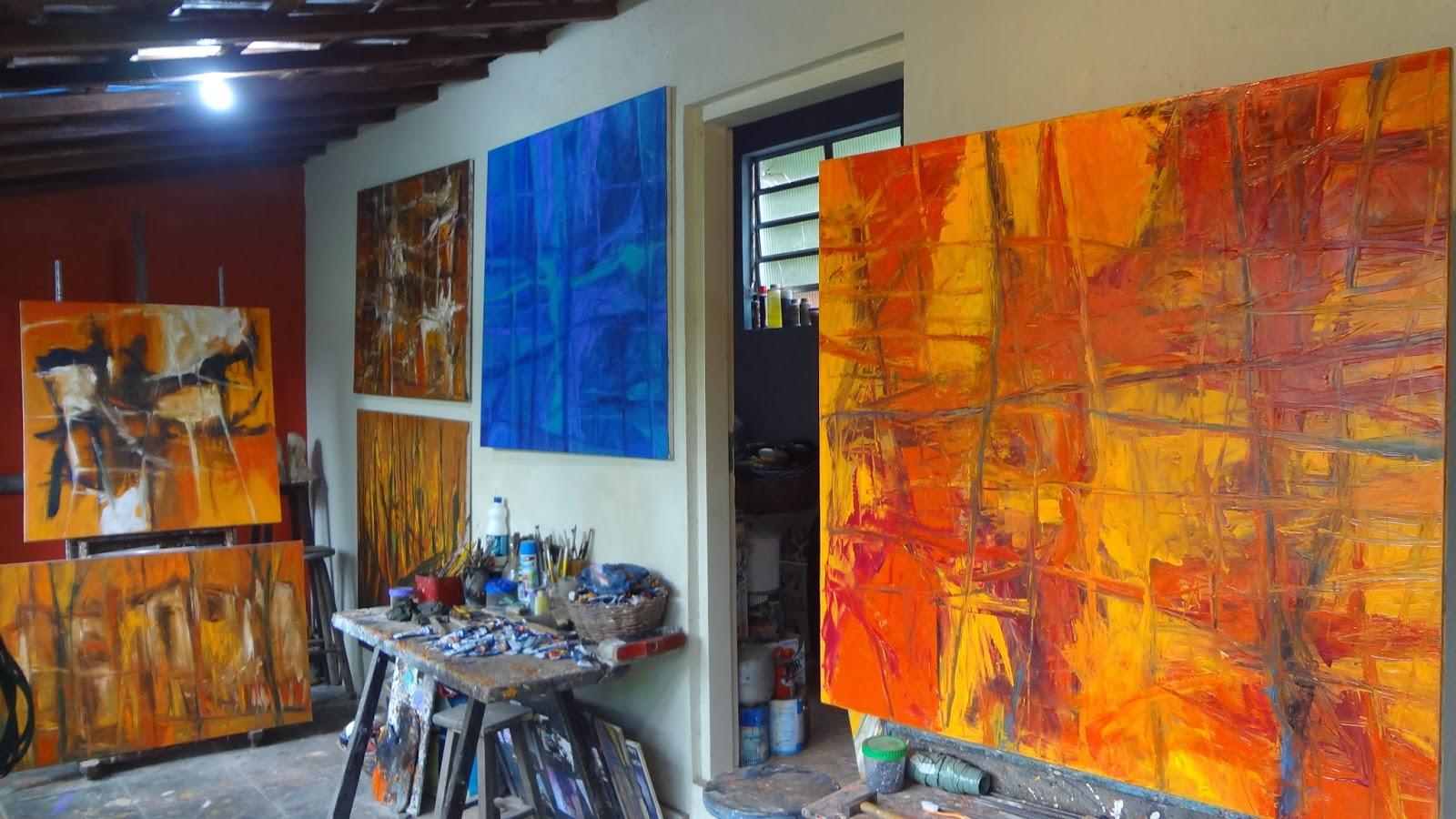 Wanderley Ciuffi: A Varanda de meu Atelier no Embu das Artes #B94012 1600x900