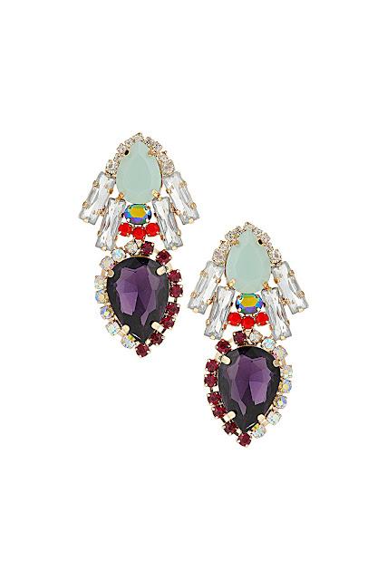 premium stone teardrop earrings