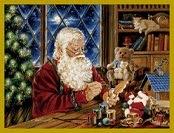 Pai Natal na Sala de Brinquedos
