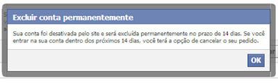 Just Delete Me - Confirmando a exclusão de uma conta no Facebook