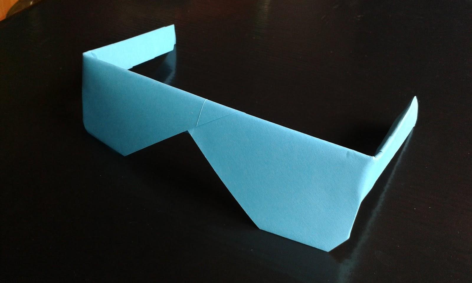 Как сделать очки из бумаги легко и