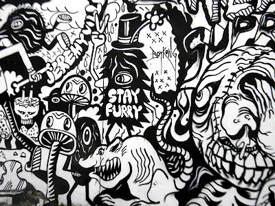 Graffiti black and white Photo