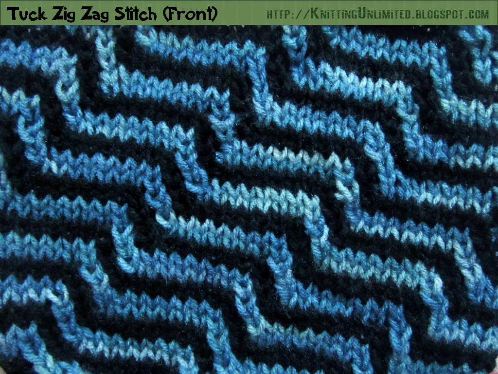 Zig Zag Knitting Stitch Pattern : tuck zig zag knitting stitch pattern