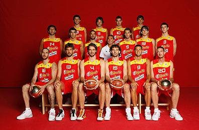 la seleccion de baloncesto de espana: