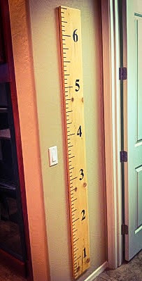 DIY Growth Chart Ruler that is fast and easy and cheap- Alohamora http://alohamoraopenabook.blogspot.com/