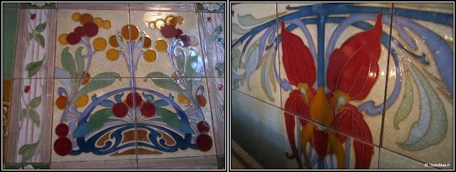 nouveau resto bistrot Poulette rue Etienne Marcel Paris mosaique art nouveau déco 1900 origine
