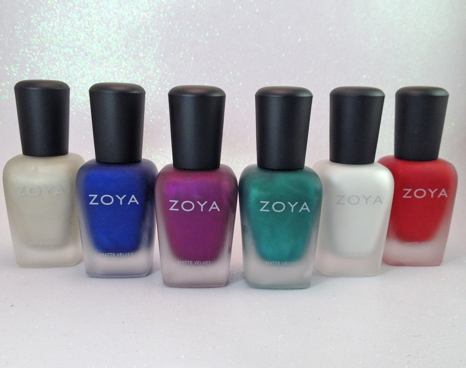 Each Nail Polish Perfectly Matte With That Extra Special Zoya Velvet Fleck Finish Everyone Loves Check Out These Beauties
