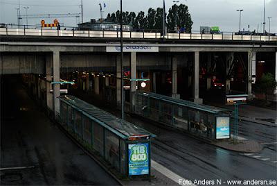 slussen, stockholm, busshållplatser, bussterminal, foto anders n
