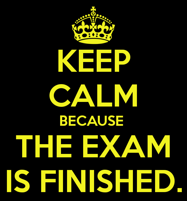 Where The Truth Lies: EXAM IS FINALLY OVER!