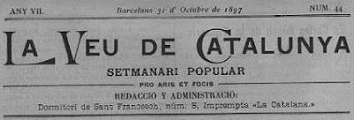Cabecera de la revista La Veu de Catalunya