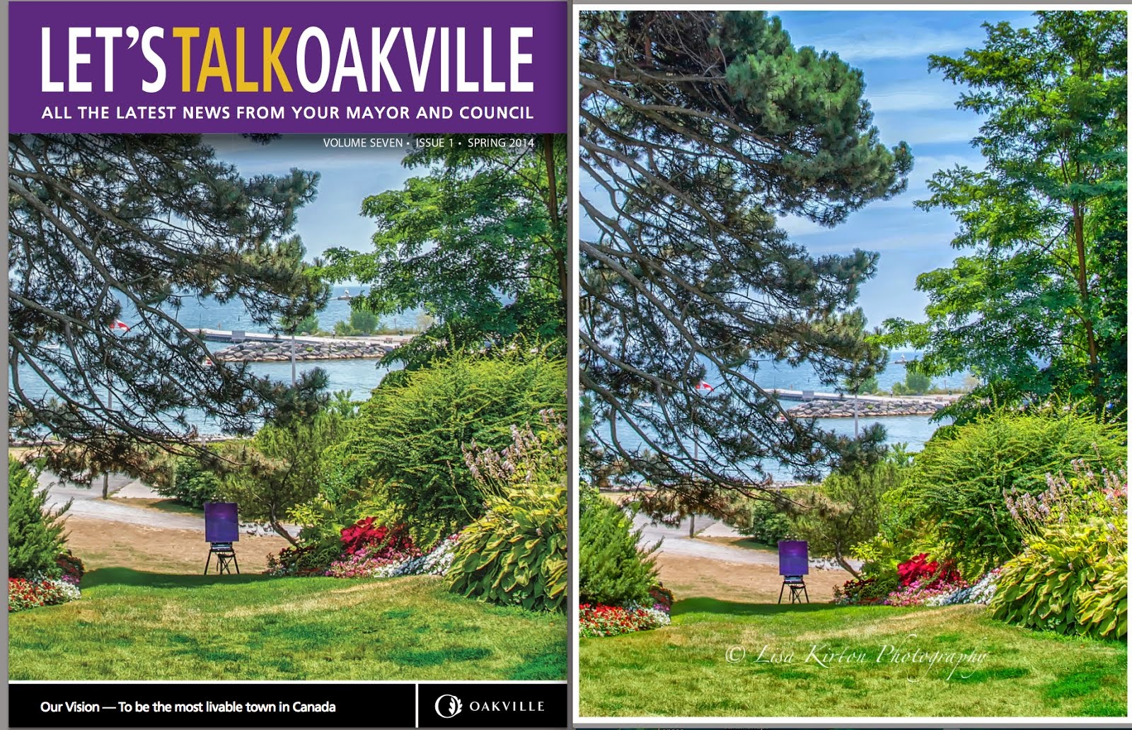 Spring 2014 cover Let's Talk Oakville