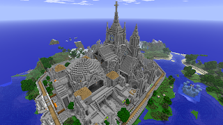 huge minecraft building architecture