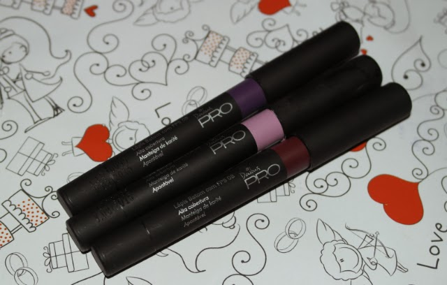 lápis-batom-labial-labios-dailus-pro-maquiagem-rosa-lady-goiaba-magenta-uva-doce