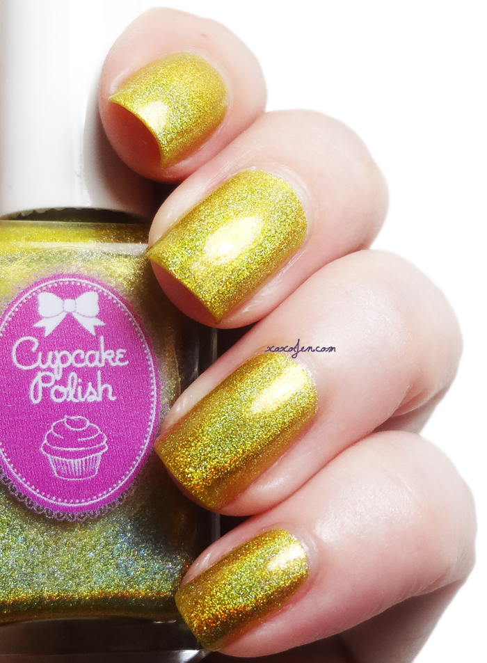 xoxoJen's swatch of Cupcake Polish Don't Worry Bee Happy