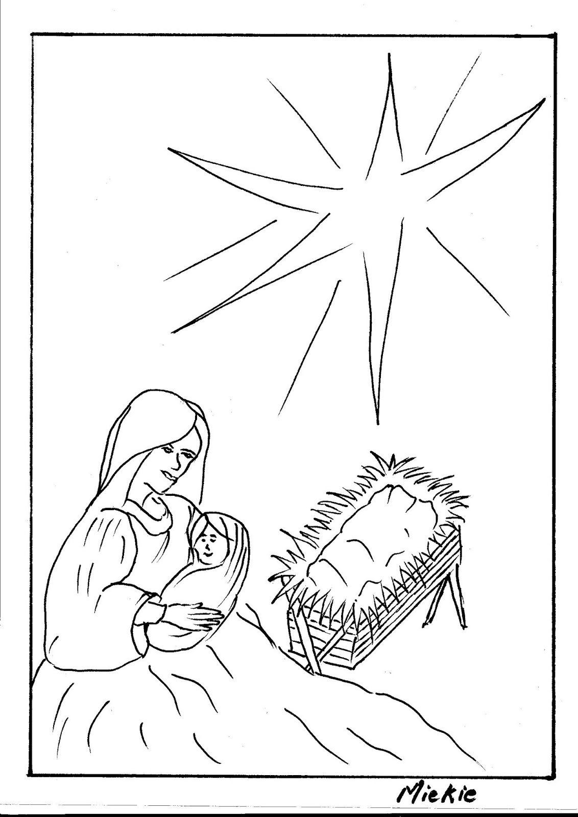 A Pretty Talent Blog: Drawing a Nativity Scene, and Angel and a ...