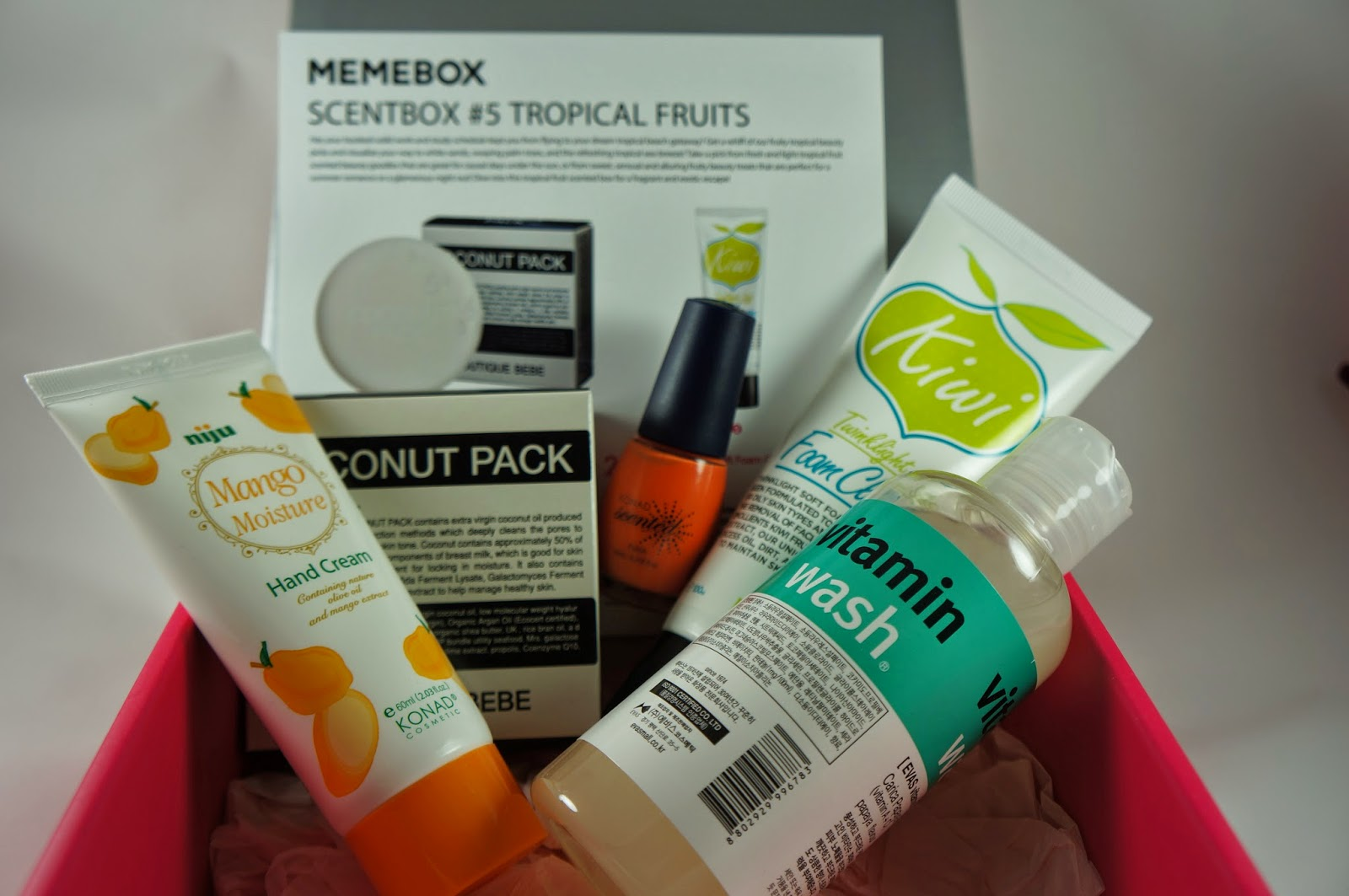 Memebox Scentbox #5 Tropical Fruits Unboxing Review