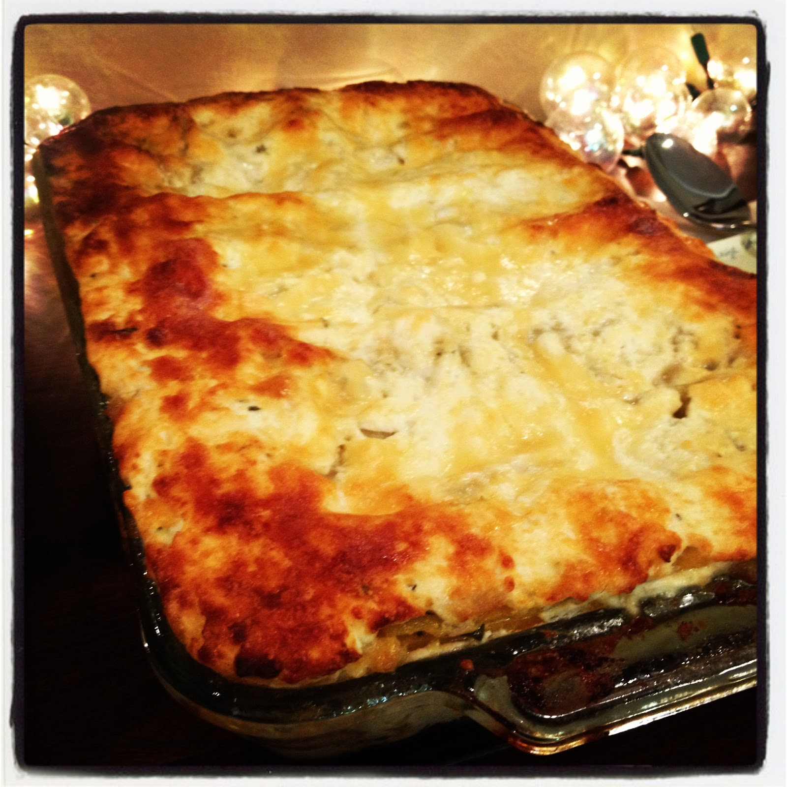 Pardon My Crumbs: Vegetarian Butternut Squash + Mushroom Lasagna