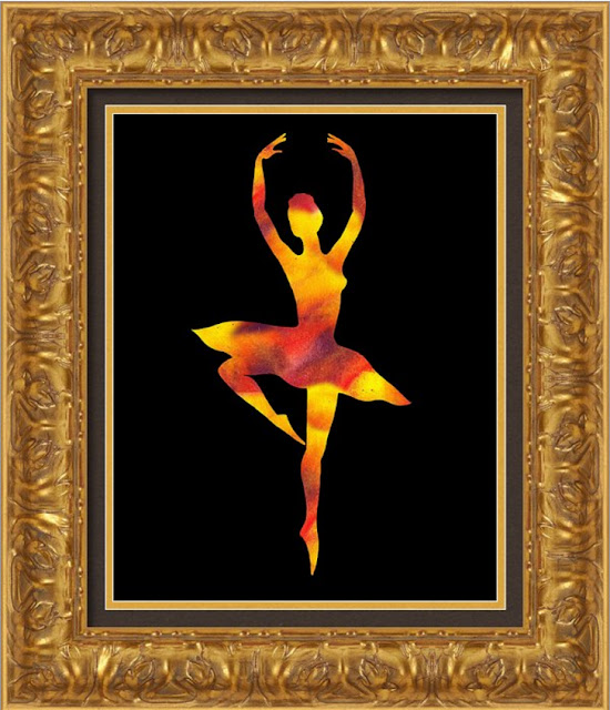 yellow red abstract dance