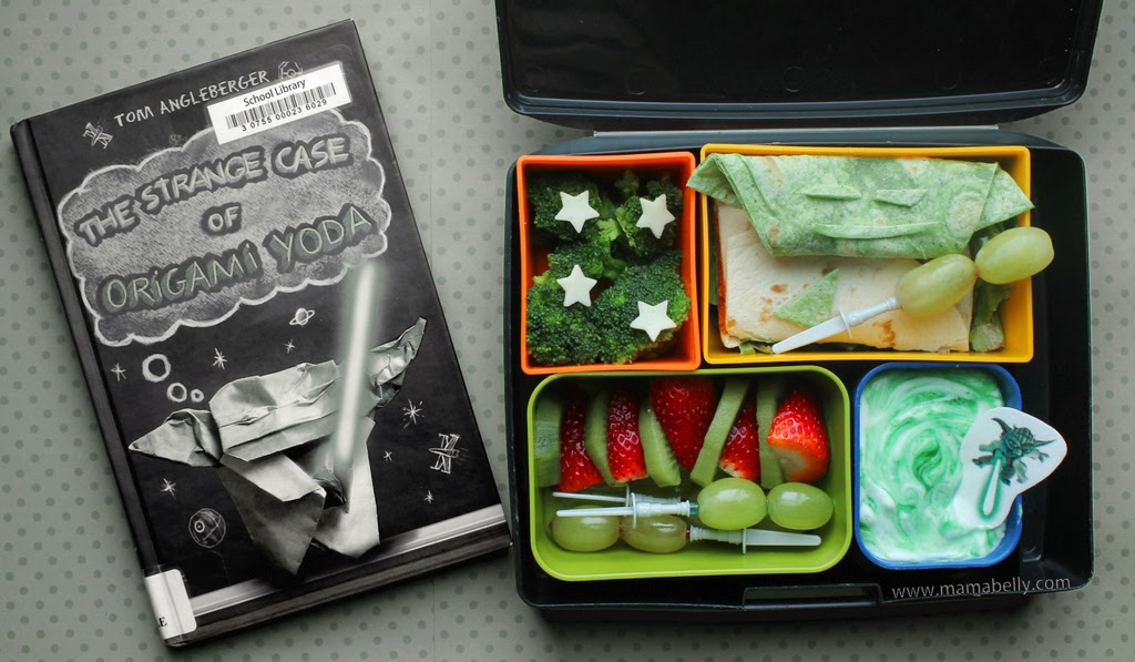 mamabelly 39 s lunches with love storybook bento origami yoda. Black Bedroom Furniture Sets. Home Design Ideas