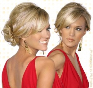 Hair Perfect Carrie Underwood's Twisted Updo  With A Little Bump