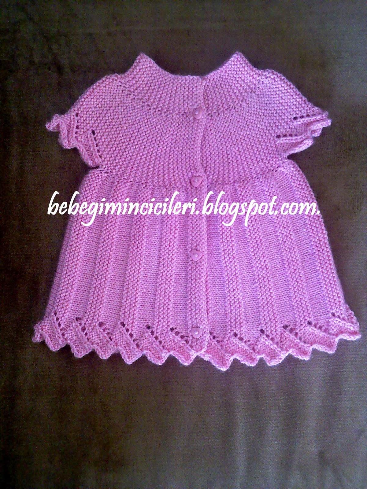 Поперечное вязание спицами для девочки
