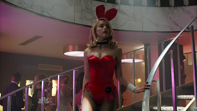 Amber Heard in her Playboy Club bunny costume