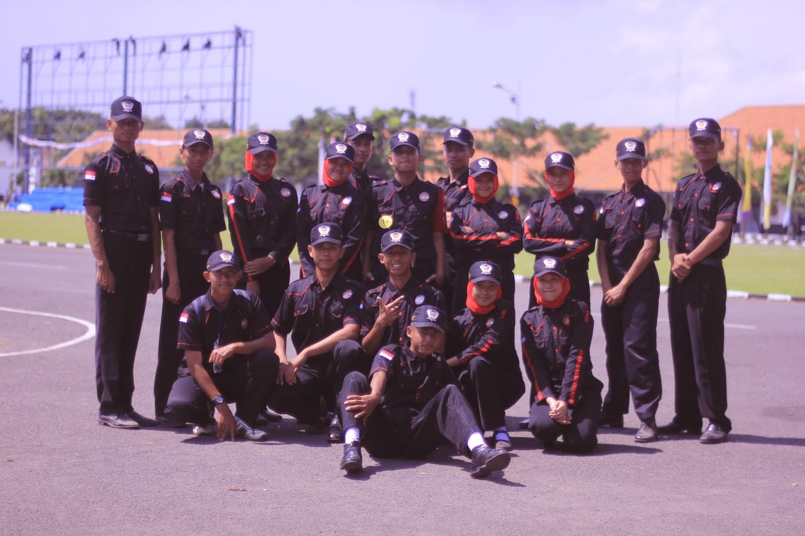 Surabaya with Flag Force (Paskibra)