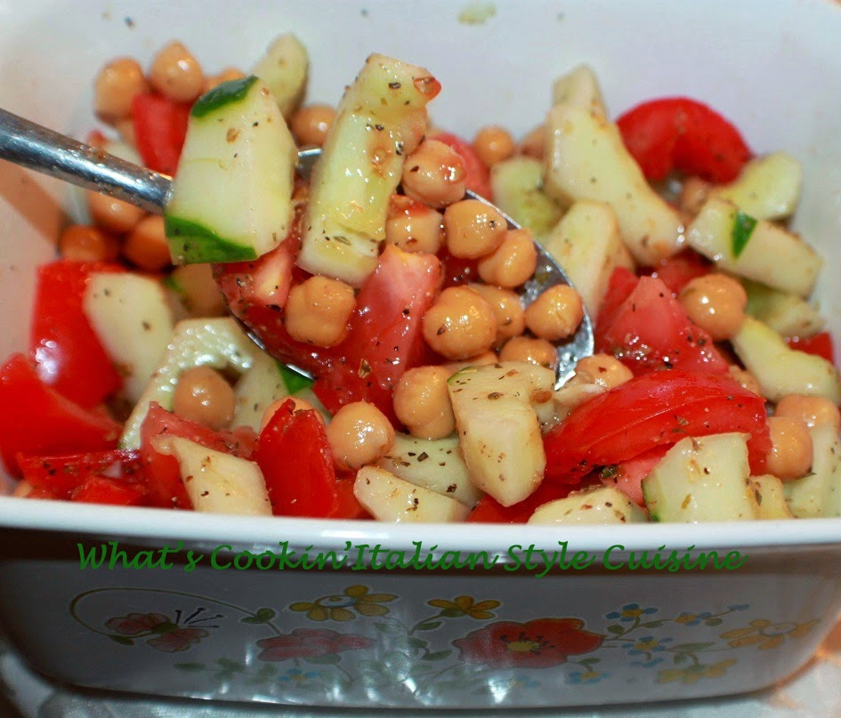 ... Cookin' Italian Style Cuisine: Tomato and Cucumber Salad Recipe Video