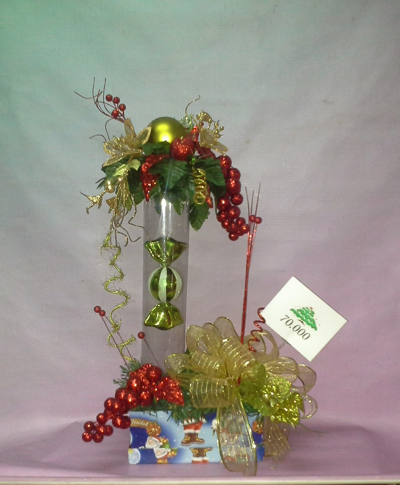 Florister a hojas blancas arreglos navide os for Arreglo para puertas de navidad