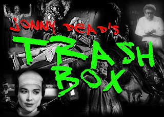 composite image advertising Jonny Dead's Trash Box