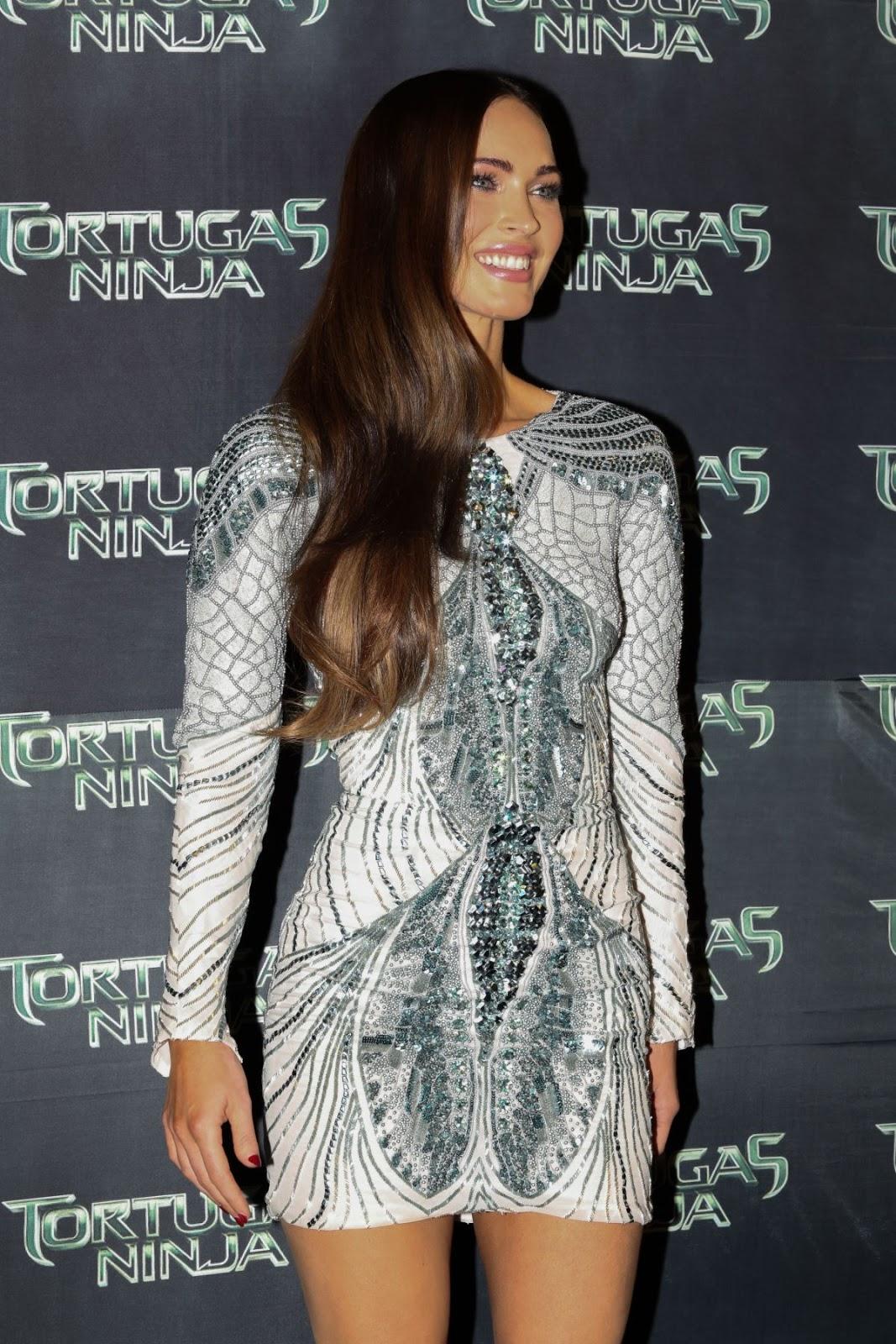 Megan Fox in Mini-dress at Teenage Mutant Ninja Turtles Mexico Premiere