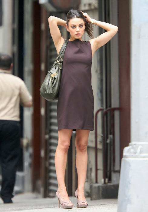 mila kunis on the set - candid latest photos