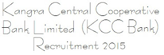 Kangra Central Cooperative Bank Limited (KCC Bank) Recruitment 2015