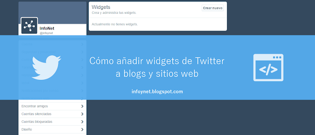 Cómo añadir widgets de Twitter a blogs y sitios web