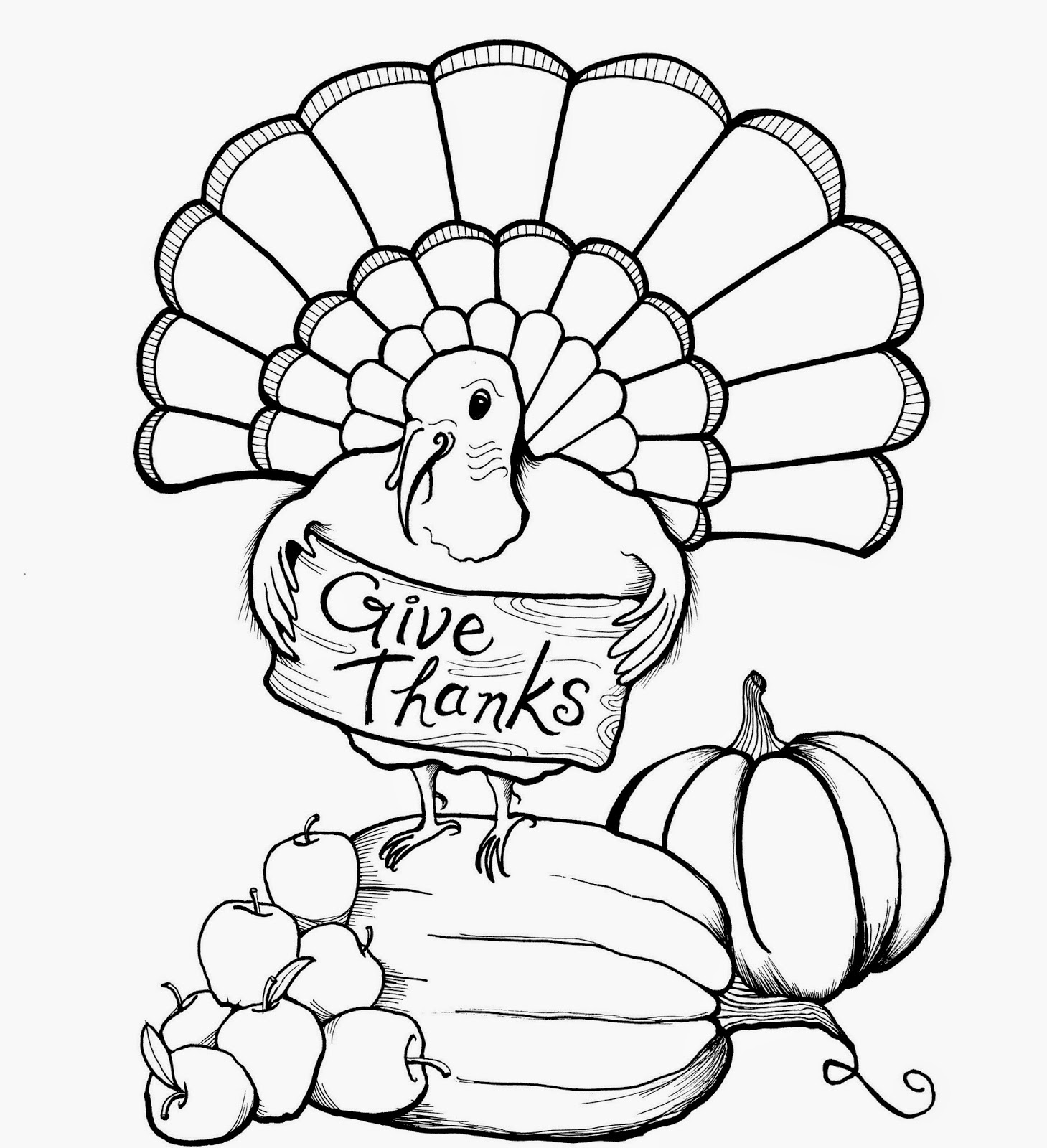 cartoon turkey coloring pages - photo#7