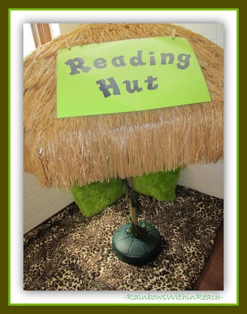 Kindergarten Reading Hut: Jungle Theme via RainbowsWithinReach