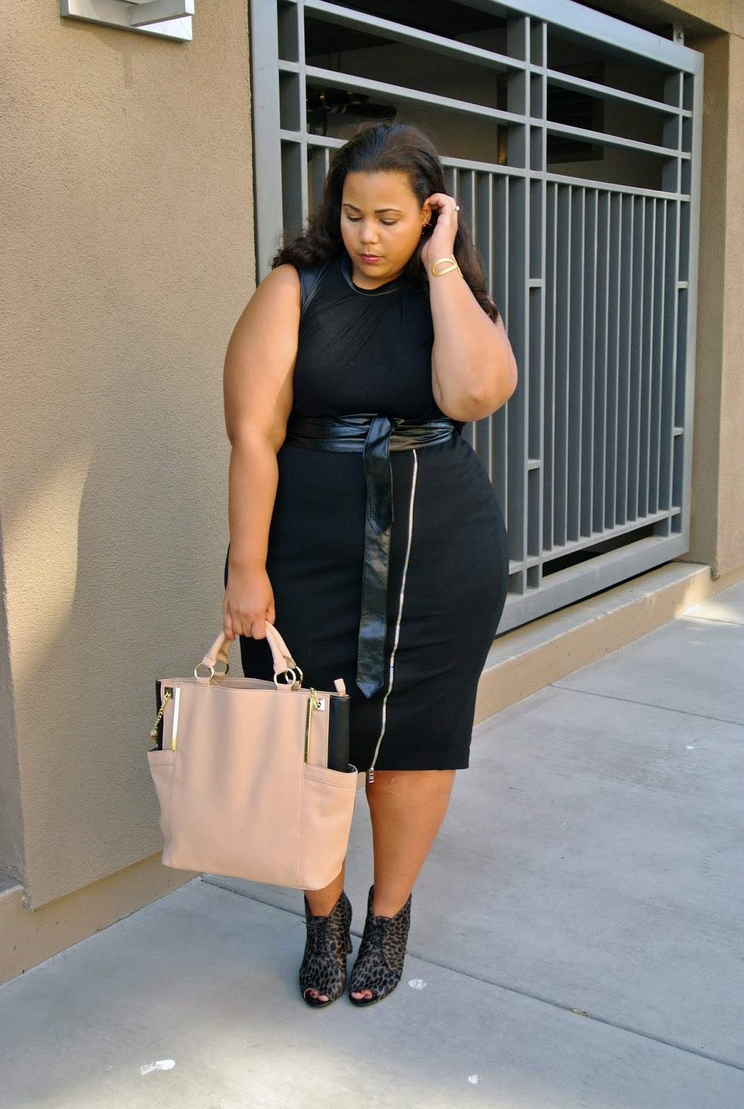 6th and Lane, Plus Size Black Pencil Skirt